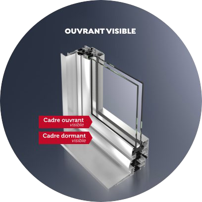 Ouvrant visible